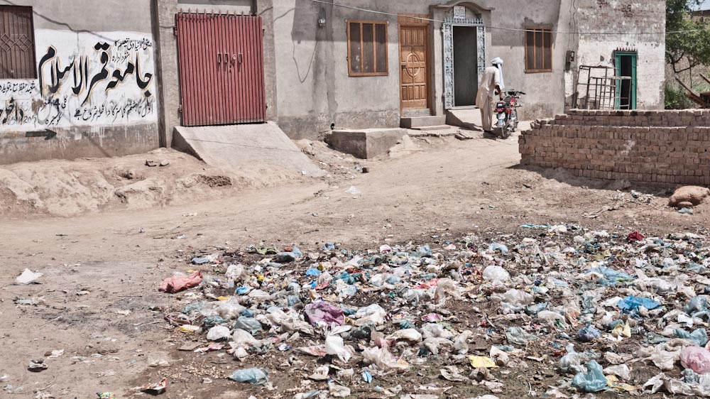 There is no conept for rubbish disposal in Pakistan.